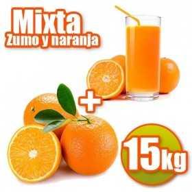 15 kg der Tabelle und Saft Orangen