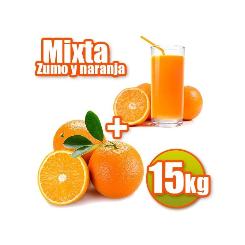 15 kg de table et de jus d'oranges