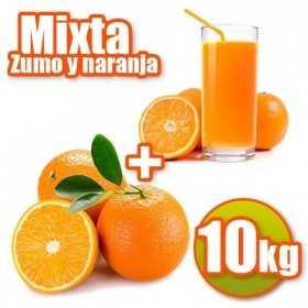 10 kg Orangen Saft und Tabelle