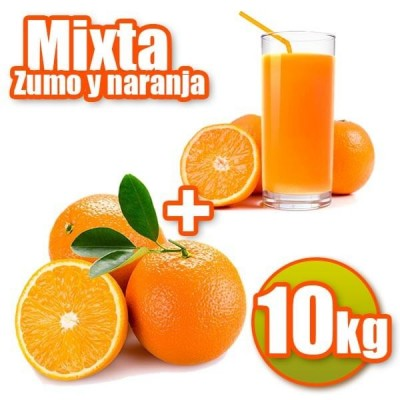 10 kg of oranges juice and table
