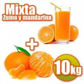 10 kg di arance e succo di mandarini