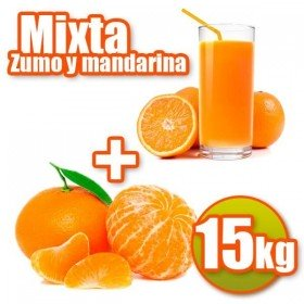 15 kg of oranges and tangerines juice