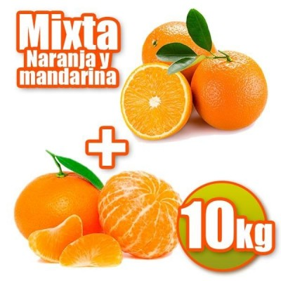 10 kg of oranges and tangerines table