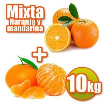 10 kg Orangen und Mandarinen Tisch