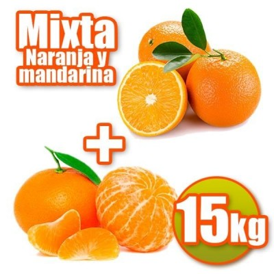 15kg of oranges and tangerines table