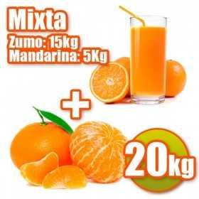 20Kg -15kg de Naranjas Zumo y 5kg de Mandarinas