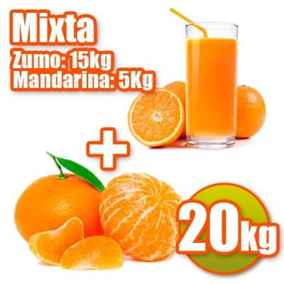 20 kg und 5 kg 15kgNaranjas Juice Mandarinen