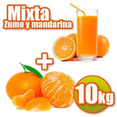 Oranges and tangerines juice